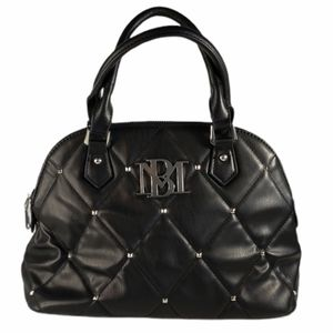 Badgley Mischka Quilted Studded Dome Satchel